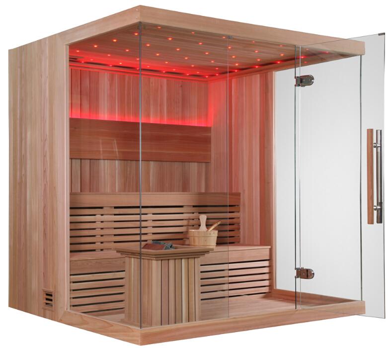 persona madera finlandia construido monalisa casa sauna para la venta