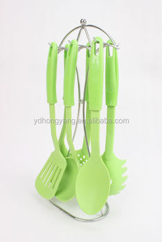 6 Pieces Green Nylon Kitchen Equipment/plastic Kitchen Utensils/kitchen  Utensil Cooking Equipment