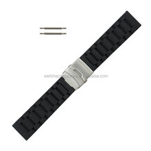 wholesale black Silicone rubber Watch strap