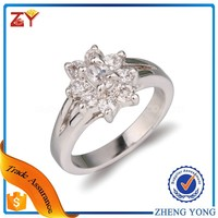 Wedding Rings for Sale White Gold Plated CZ Diamond Jewelry Engagement Ring