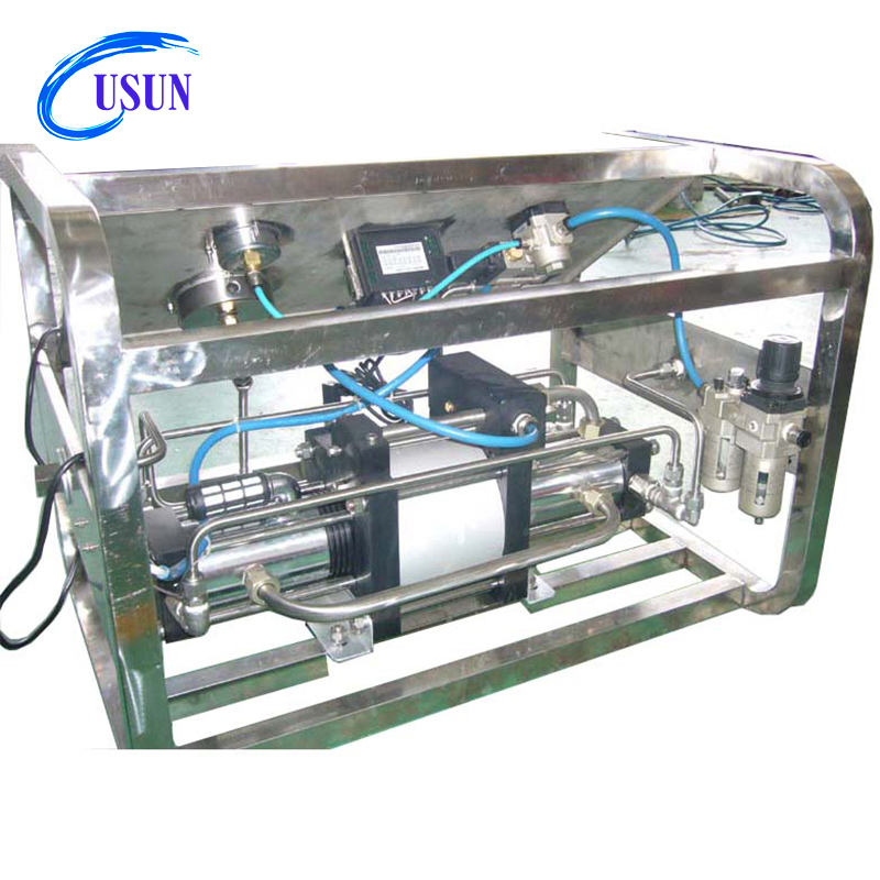 USUN brand Model:US-GBD15 100 Bar Output Portable air driven gas transfer pump Unit
