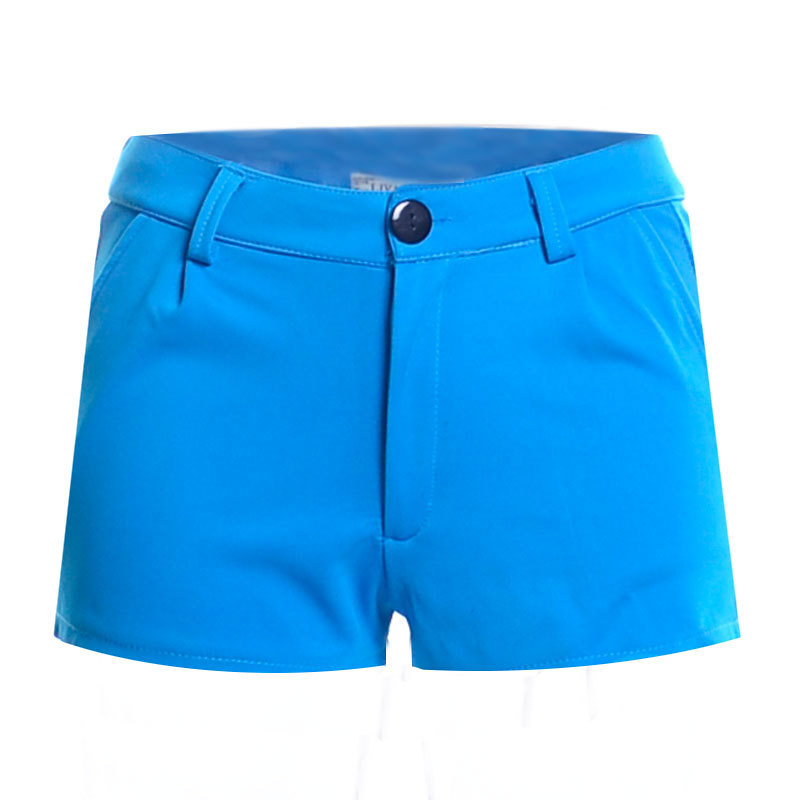 2015 New arrivals summer style women shorts candy color large size casual pants elastic waist solid color zipper fashion shorts