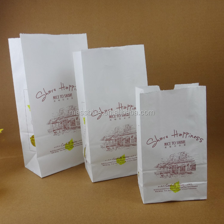 High quality bread craft paper bag & customized logo printing