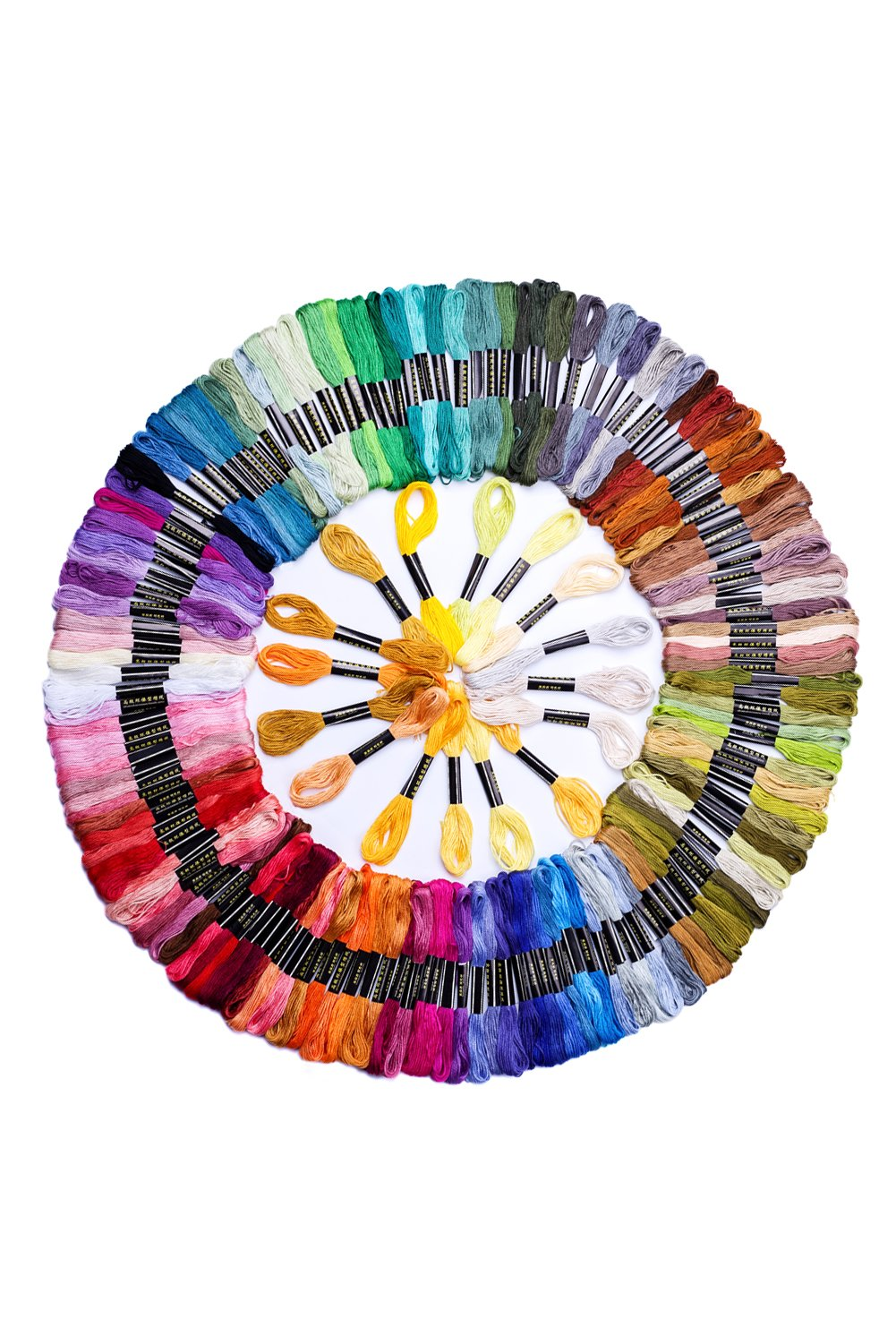 Ohlily 150 Skeins of Cross Stitch Threads 8M Cotton Embroidery Floss Sewing Threads Random Color
