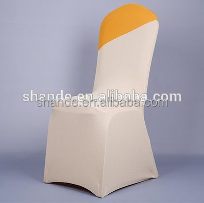 wholesale white wedding fashion spandex chair covers for folding chairs/satin chair covers purple