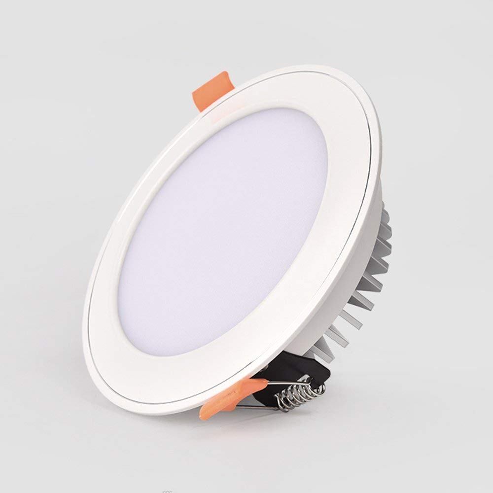 Splindg Modern Recessed Downlight Aluminum LED Ceiling Light 3W 5W 7W Round COB Spotlight Warm White Cold White Natural White Light Fixture (Color : Cold White, Size : 3.5 Inches 5W)