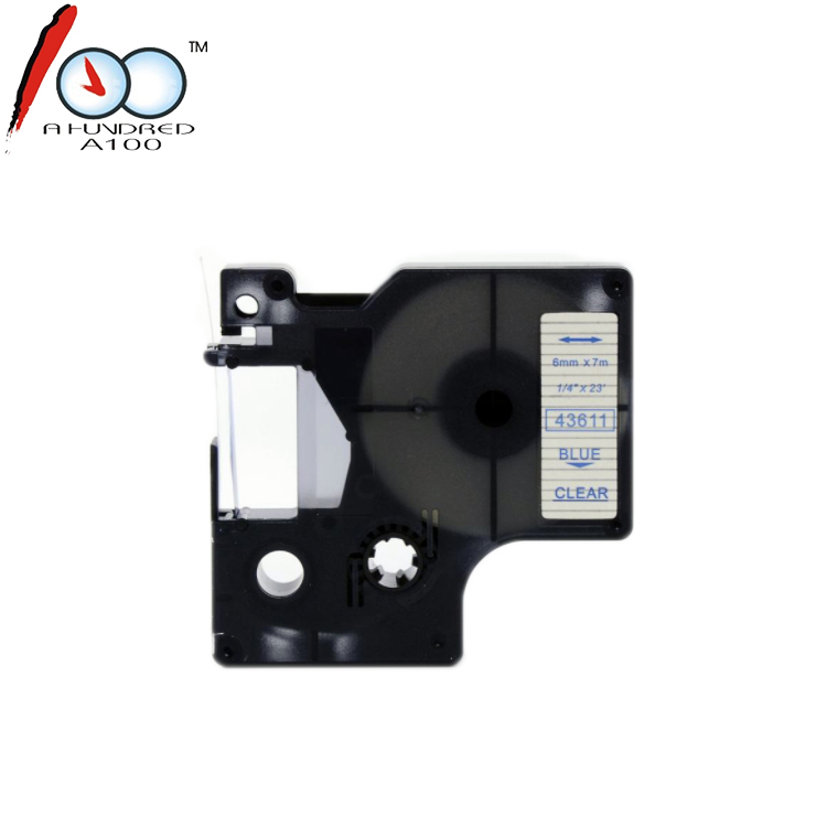 Compatibel tape cartridge 43610 43611 43612 43613 43614 43615 43616 43620 6mm voor DYMO D1 label printer