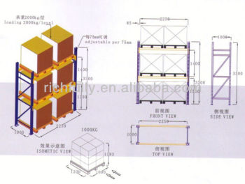 Storage pallet rack start bay layout warehouse layout for Free warehouse layout design software