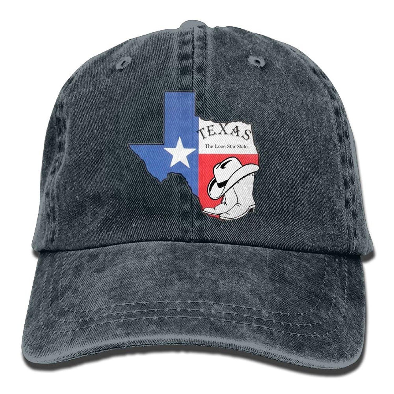 Texas Vintage State Silhouette Unisex Adjustable Cowboy Hat Baseball Cap for Sport