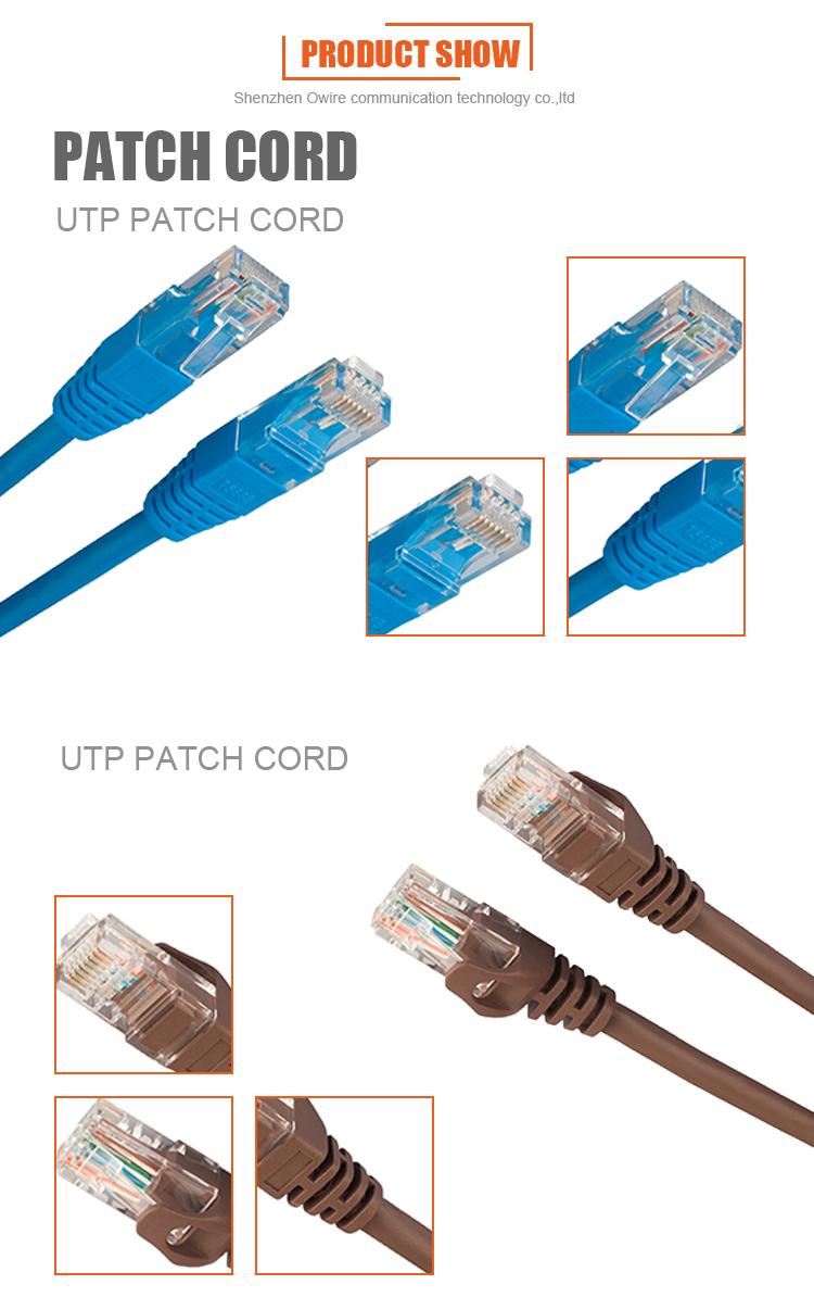 Cina Rotonda/Piatto Cat5E Cat6 Rj45 Patch di Cavo di Rete Ethernet Via Cavo 3M Patch Cord Prezzo