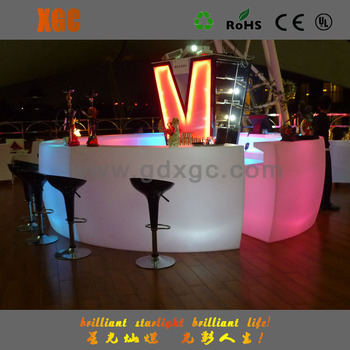 LED Bar Counter And Bar Top With Moving Bubbles