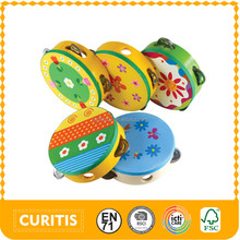 preschool wooden educational games toys musical wood kids diy handmade toy instruments bell baby rattles tambourine jingles