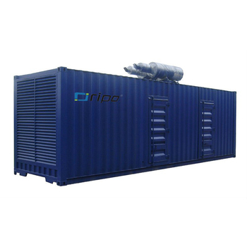 40ft genset container china cheap diesel genset price 800KW/1000KVA genset