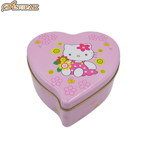 Tin favors food containers heart shaped box of chocolates