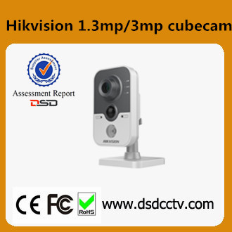 DS-2CD2432F-I(W) Hikvision 3MP IR Cube Network baby watching camera with two-way communication