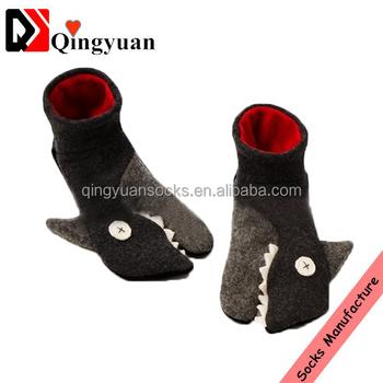 Customize Soft Children Shark Socks For Christmas Gift Shark Socks