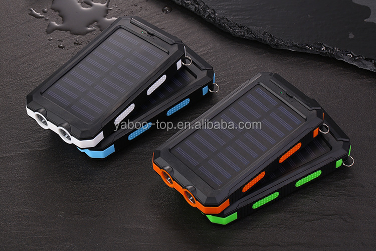 Best Waterproof 20000mAh Solar Charger with Compass Outdoor Solar Power Bank 20000mAh with Two Strong Flashlight Hot on Amazon