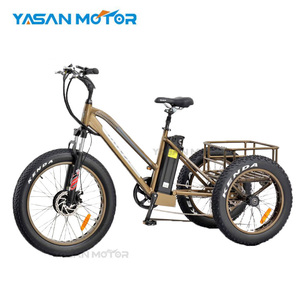New arrive bafang 250W 350W 750W motor three wheel electric bike with 24*4.0inch fat tire e trike electric bike for adults