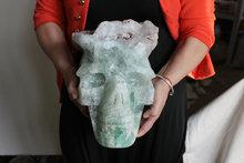 lb enorme natural fluorita crystal skull con minerals tallado de china mano escultura para el regalo para la coleccin para venta