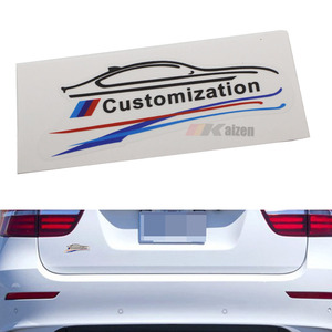 M-Colored Stripe customization For BMW Car SUV Window Decal Vinyl Sticker Warning Sign
