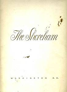 Garden Room Restaurant Menus The Shoreham Hotel 1957 Washington DC