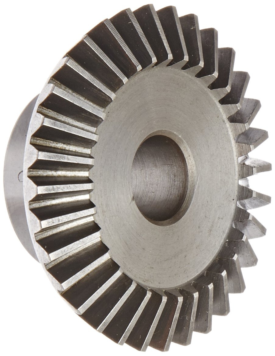 "Boston Gear L149Y-G Bevel Gear, 2:1 Ratio, 0.500"" Bore, 16 Pitch, 32 Teeth, 20 Degree Pressure Angle, Straight Bevel, Steel"