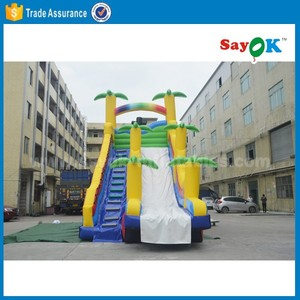 giant adult size inflatable water slide material for pool