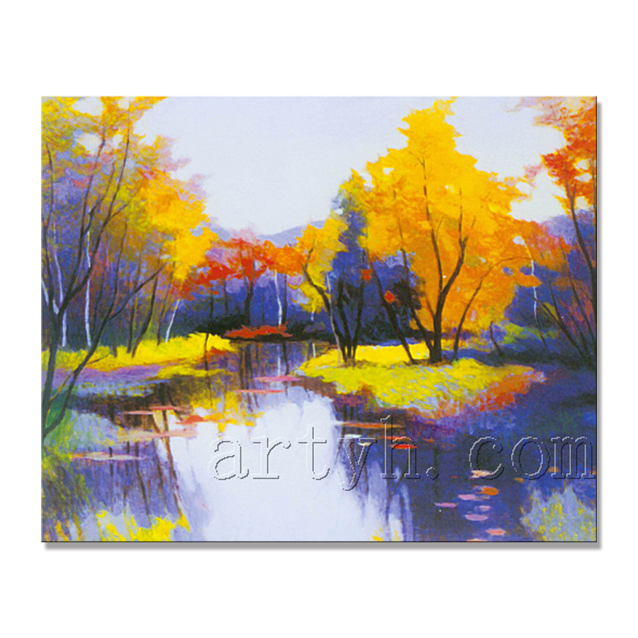 Newest Handmade Beautiful Scenery Drawing Painting