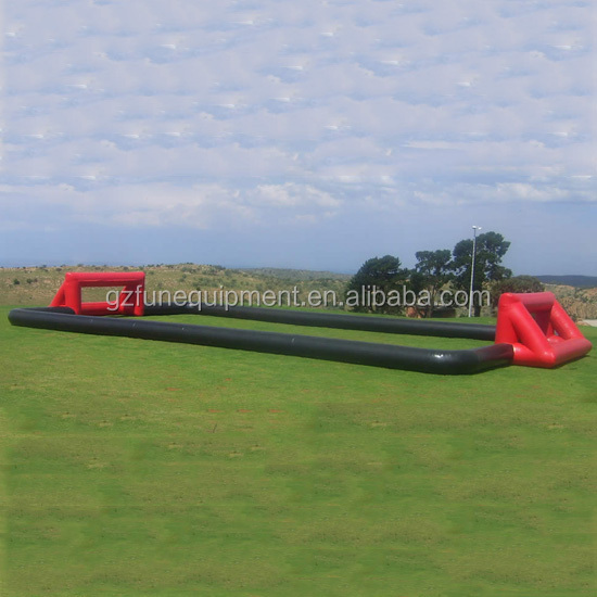 Funny inflatable football arena switch inflatable bubble ball pitch of factory sale directly
