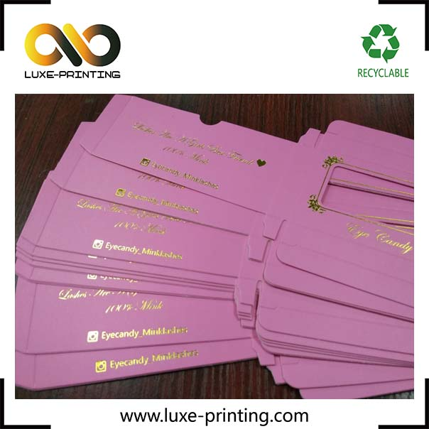 Customized free design brand <strong>service</strong> paper mink eyelash packaging