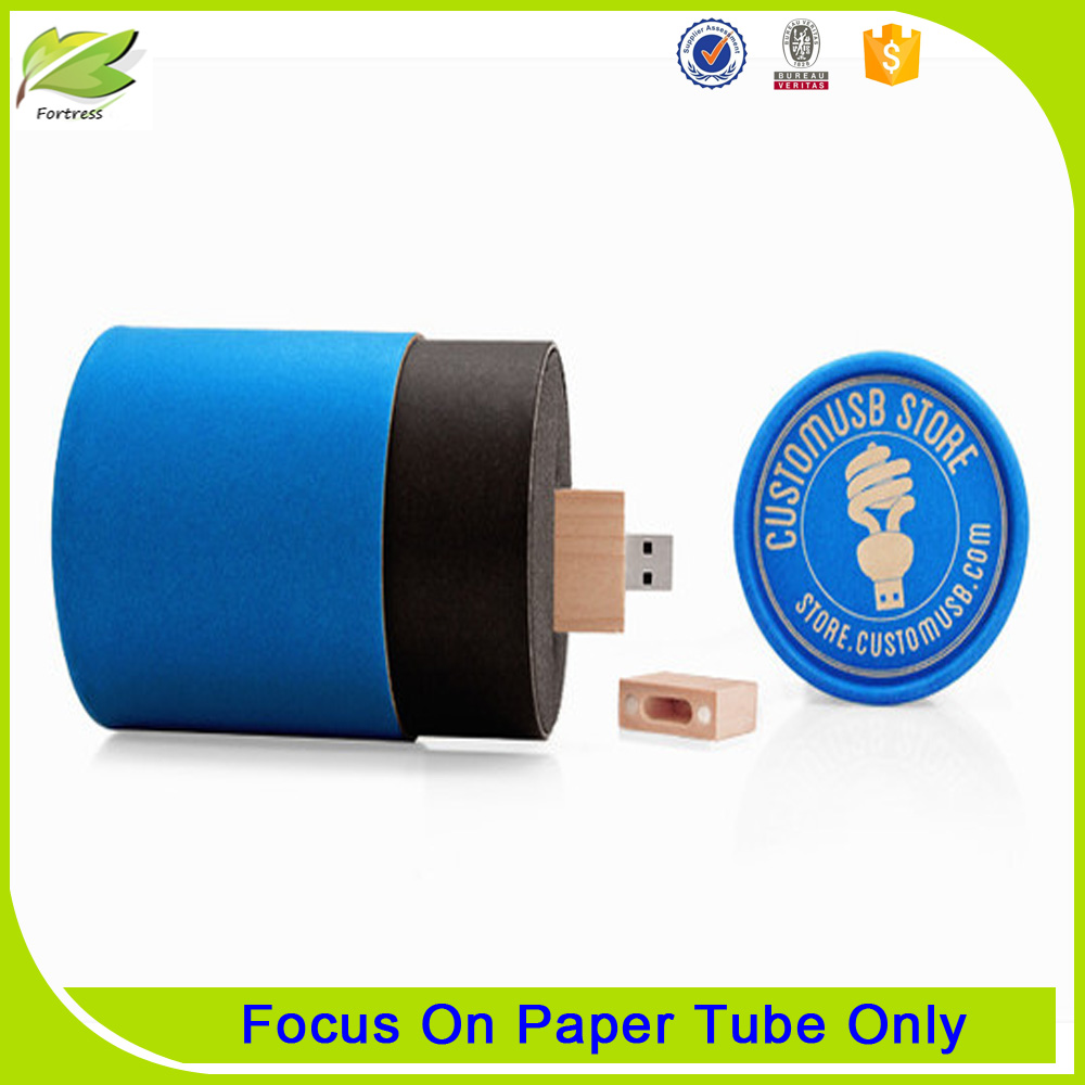 small paper tube round cardboard with lid for USB
