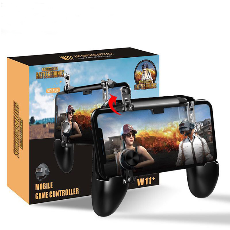 handle joystick W11+ pubg game gamepad for mobile phone game <strong>controller</strong> 2019 l1 r1 shooter trigger metal pubg game pad gamer