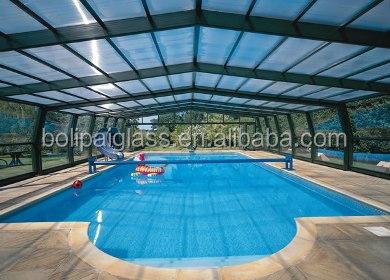 Uso en piscina pared de vidrio temperd paneles de vidrio for Tempe swimming pool