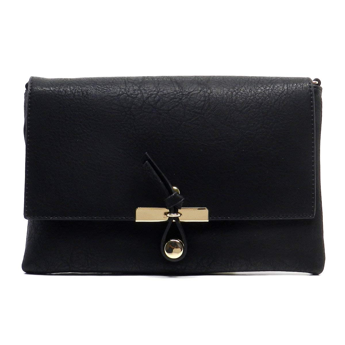Get Quotations · Americana Knot Front Hook Closure Clutch Crossbody Bag eb5583cd8c232