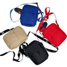 Fashion nylon messenger vilt cross sling kleine custom lange strip enkele professionele vrouwen mens lady schoudertas
