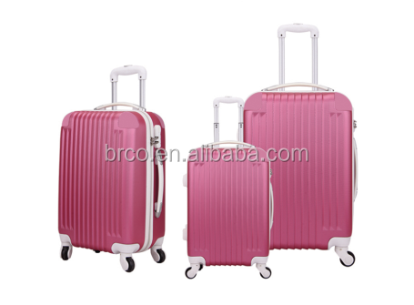 Modern abs trolley luggage set durable leisure girls and ladies luggage suitcase for travel and commerce