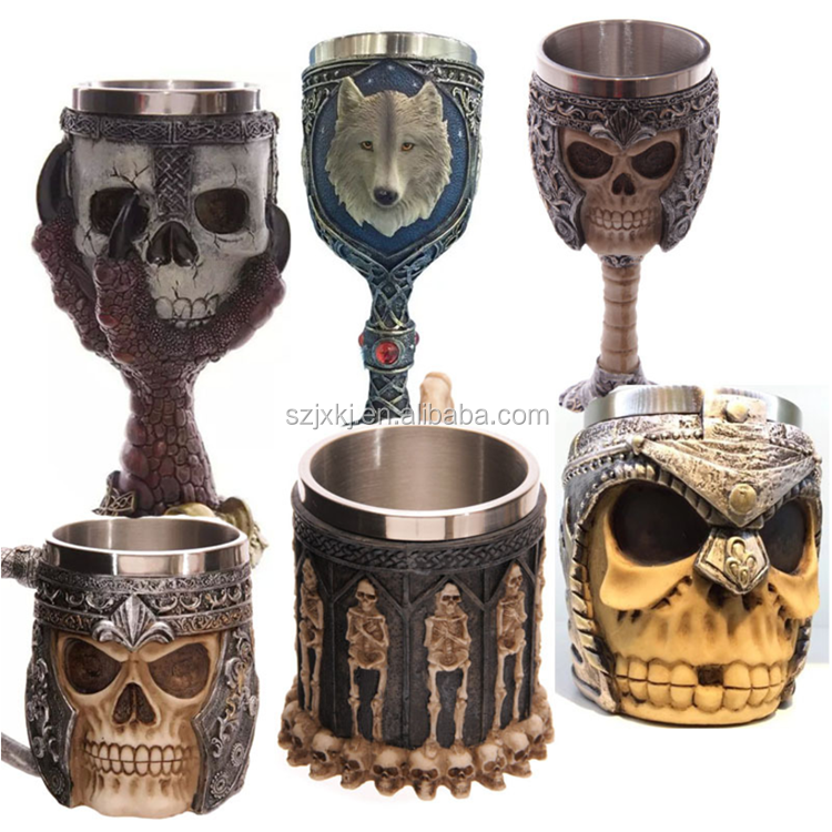 Creative Eagle Claw Big Hand Skeleton Goblet, Personality Ghosthead Tougou Mugs, Bar KTV Decorative Cup