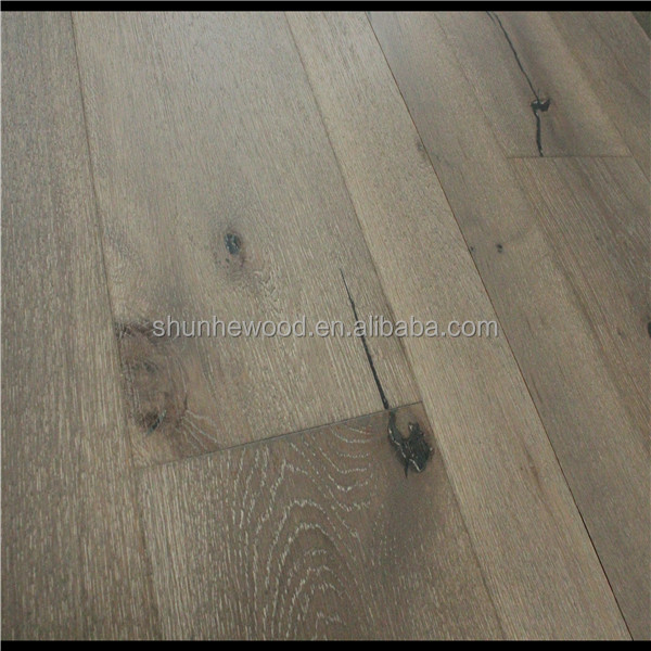 SY8002 Brushed UV laccquer ABCD grade Oak harwood Timber wood floor(Oak timber t flooring)