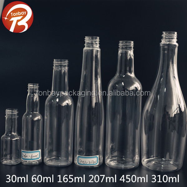 wholesale pet plastic wine bottles, empty wine bottles for sale