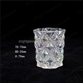 New Christmas crystal candle holder centerpieces, glass cup sale