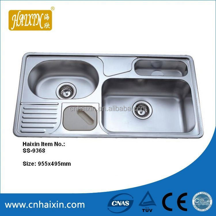 Comfortable 2 Bowl Stainless Steel Sink With Drainer