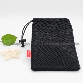 Colored Mesh Jewelry Bags Drawstring Nylon Gift Bag