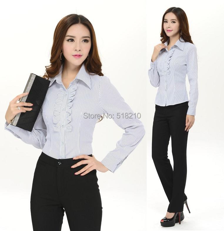 d202832bbc219 Get Quotations · New Plus Size Women Work Wear Suits Blouse And Pants For  Office Ladies Pantsuits Uniforms Style