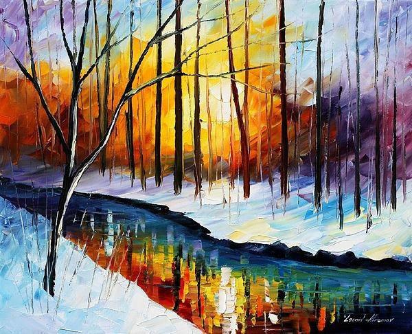 Framed painting by number coloring by numbers for home decor hand painted canvas 4050 winter sun 02