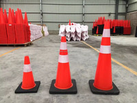 Road barrier flexible PVC traffic safety cone soft road cones