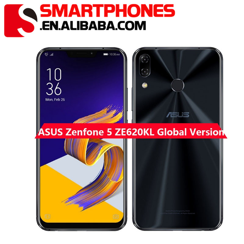 ASUS Zenfone 5 ZE620KL 4GB+ 64GB Mobile Phone 6.2 19:9 FHD+ Qualcomm Snapdragon 636 3300mAh Battery NFC Android 8.0 Smartphone фото