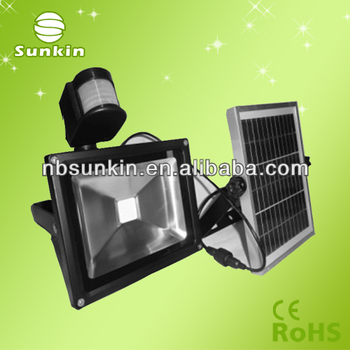 new solar LED floodlight 20W with PIR sensor & AC charger