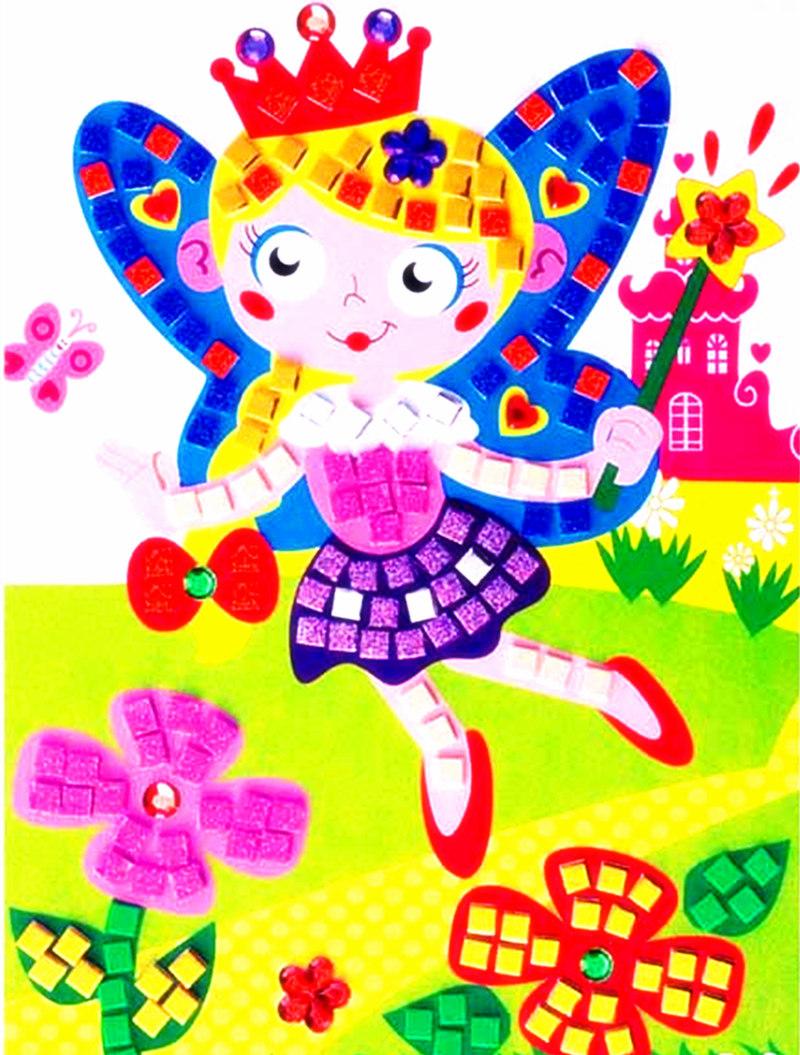 Mosaic layers sticker diy nursery children sticker reward EVA DIY sticker 1 piece