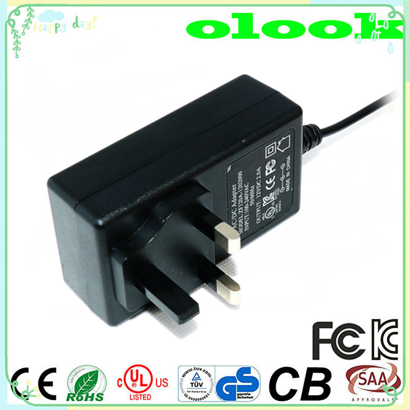 Japan outlet adapter 12V 2A output ac dc power adapter 12v for cctv MID