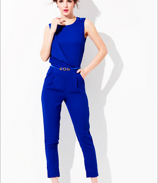 Get Quotations · 2015 summer Newest European Style Fashion Brand Women  Casual Sexy Loose Rompers Slim Pants Bodysuit Sleeveless 5dd083660075